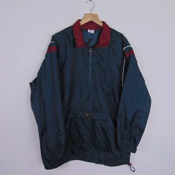 bb96989814 Vintage 90s Nike Men M 1 2 Zip Windbreaker Jacket